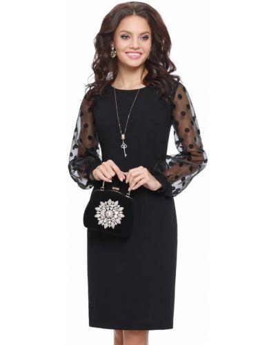 С рукавами платье-футляр с разрезом на торжество Dstrend