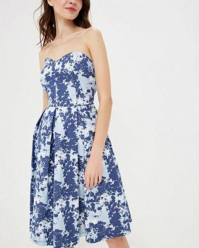 Платье осеннее синее Irina Vladi