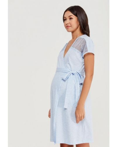 Домашний халат - голубой Hunny Mammy