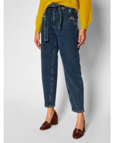 Mom jeans granatowe Pennyblack