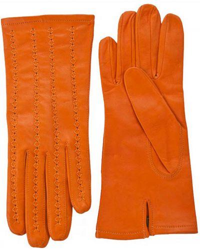 Кожаные перчатки оранжевые Alpa Gloves