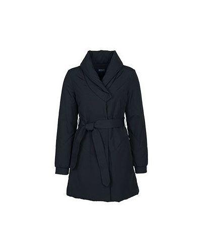 Черное зимнее пальто Armani Jeans