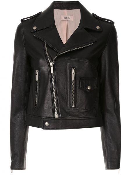 Черная короткая куртка Yves Salomon Meteo
