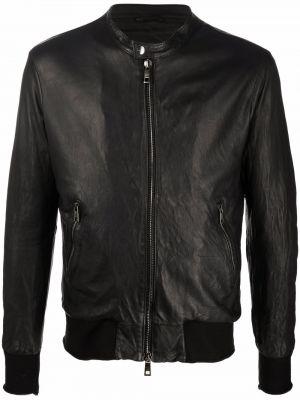 Czarna kurtka skórzana Giorgio Brato