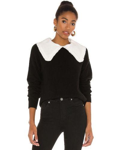 Акриловый белый свитер с воротником Line & Dot
