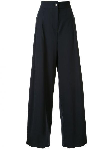 Шерстяные брюки - синие Taylor