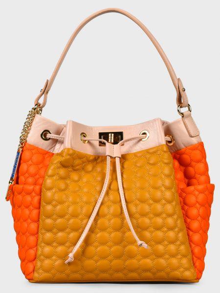 Кожаная сумка - оранжевая Sara Burglar