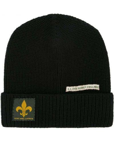 Шерстяная черная шапка Kent & Curwen