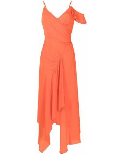 Оранжевое платье длинное Dvf Diane Von Furstenberg