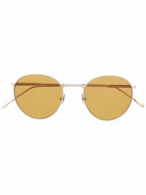 Złote okulary - żółte Lacoste