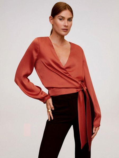Блузка с длинным рукавом весенний красная Mango