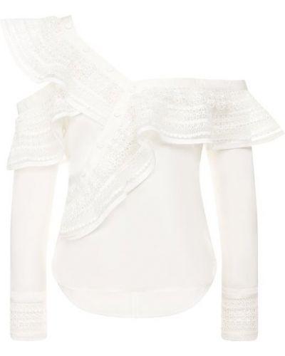Блузка из вискозы белый Self-portrait