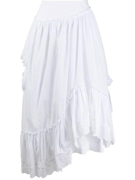 Spódnica z falbanami z wysokim stanem asymetryczna Simone Rocha