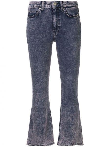 Расклешенные розовые расклешенные джинсы на пуговицах Mih Jeans