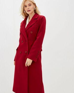 Пальто бордовый пальто Self Made