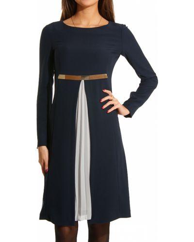 Платье осеннее синее Perspective