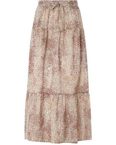 Długa spódnica z falbanami - brązowa Seafolly