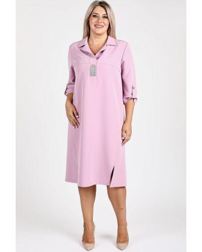 Повседневное прямое с рукавами платье-рубашка Luxury