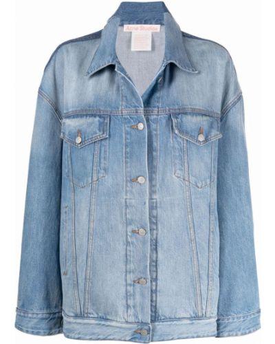 Синяя джинсовая куртка классическая на пуговицах Acne Studios