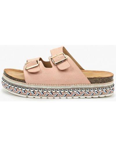 Сабо розовый на каблуке Coco Perla