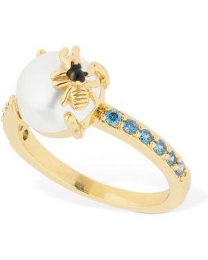 Niebieski złoty pierścionek z cyrkoniami Camila Carril