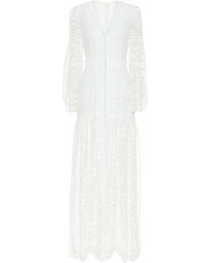 Платье с кружевными рукавами Costarellos