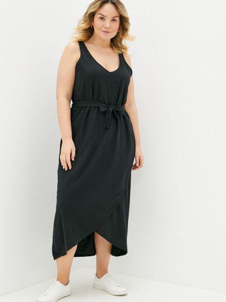 Платье черное платье-майка Junarose