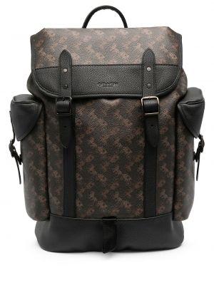 Кожаная коричневая сумка на молнии Coach