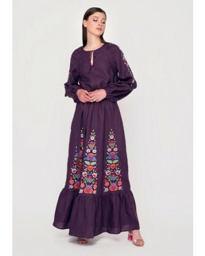 Летнее платье весеннее фиолетовый Garmoniya