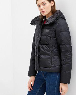 Зимняя куртка утепленная черная Helly Hansen