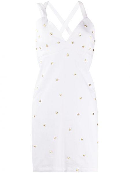 Джинсовое платье миди - белое Frankie Morello
