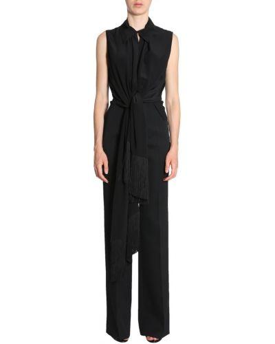 Koszula bez rękawów asymetryczna z jedwabiu Givenchy