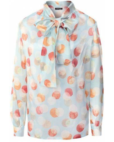 Блузка в горошек шелковая Kiton