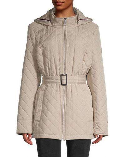 Приталенная стеганая длинная куртка с длинными рукавами Tommy Hilfiger