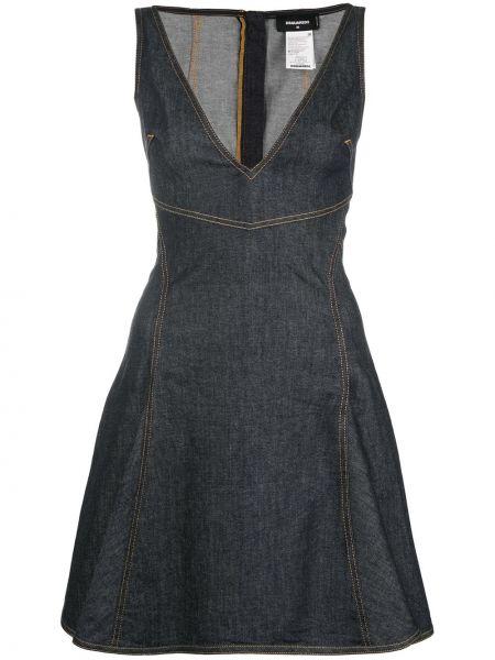 Летнее платье джинсовое из штапеля Dsquared2