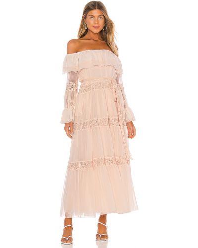 Sukienka rozkloszowana koronkowa z siateczką Hah
