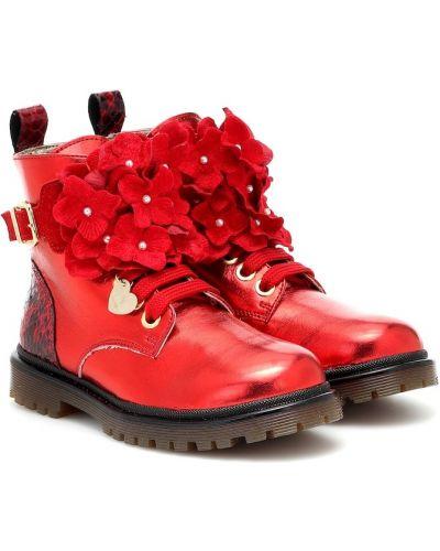 Skórzany buty Monnalisa