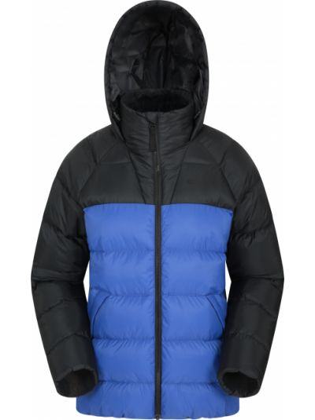 Niebieska kurtka pikowana materiałowa Mountain Warehouse