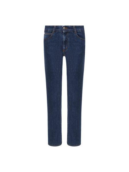 Укороченные джинсы бежевые синие Stella Mccartney