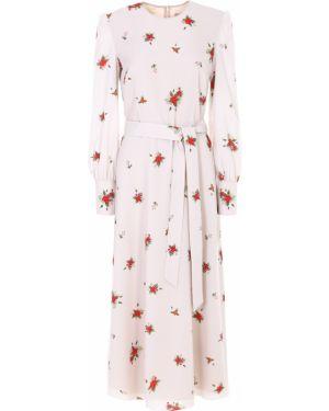 Шелковое платье макси - бежевое A La Russe