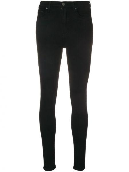 Czarne jeansy bawełniane z paskiem Grlfrnd