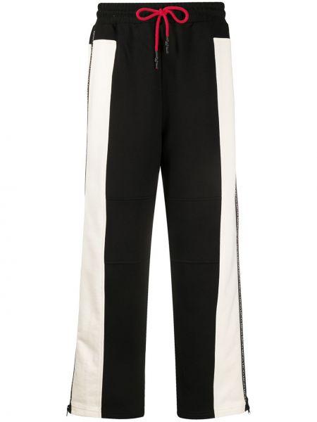 С завышенной талией белые брюки с полоской по бокам свободного кроя Mcq Alexander Mcqueen