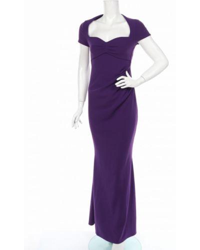 Фиолетовое облегающее вечернее платье с драпировкой Goddiva