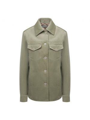 Хлопковая куртка - зеленая Dries Van Noten