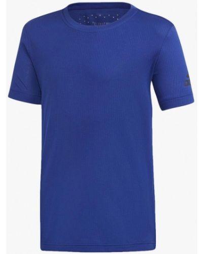 Синяя футболка спортивная Adidas