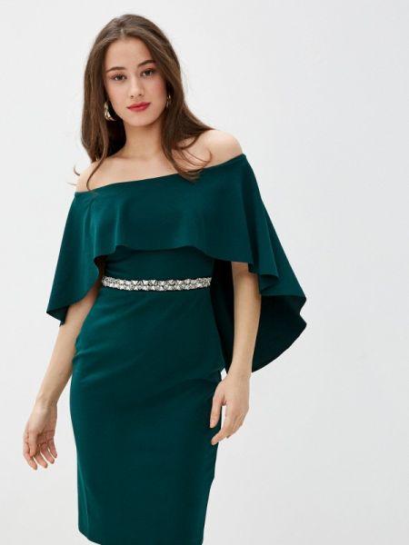 Вечернее платье зеленый весеннее City Goddess