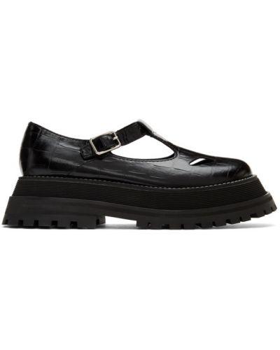 Черные кожаные лоферы на каблуке Burberry