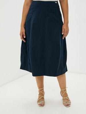 Синяя юбка осенняя Helmidge