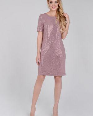 Платье с пайетками с V-образным вырезом Zip-art