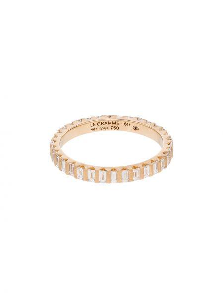 Złoty pierścionek z diamentem Le Gramme